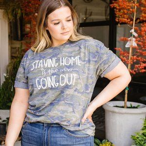 Live and Tell Home Body Camo Graphic Tee